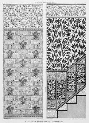 Illustration from 'The Building News', wallpaper decorations by Jeffrey & Co., 1879. Museum no. 29502D-60, © Victoria & Albert Museum, London
