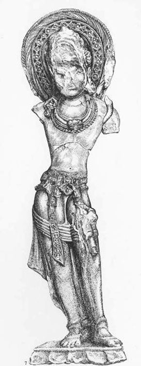 Drawing of the 'pair' to the Sanchi Torso