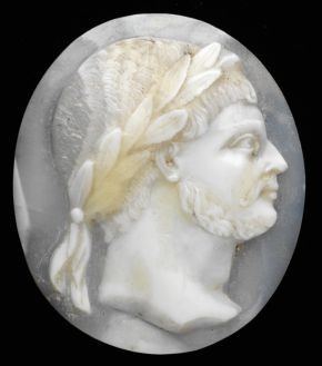 Shell cameo, probably Germany, about 1570-80, shell on slate backing. Museum no. A.36-1937, © Victoria and Albert Museum, London