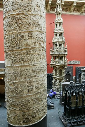 Plaster cast reproduction of Trajan's Column by Monsieur Oudry, Paris, about 1864. Museum no. REPRO.1864-128, © Victoria and Albert Museum, London