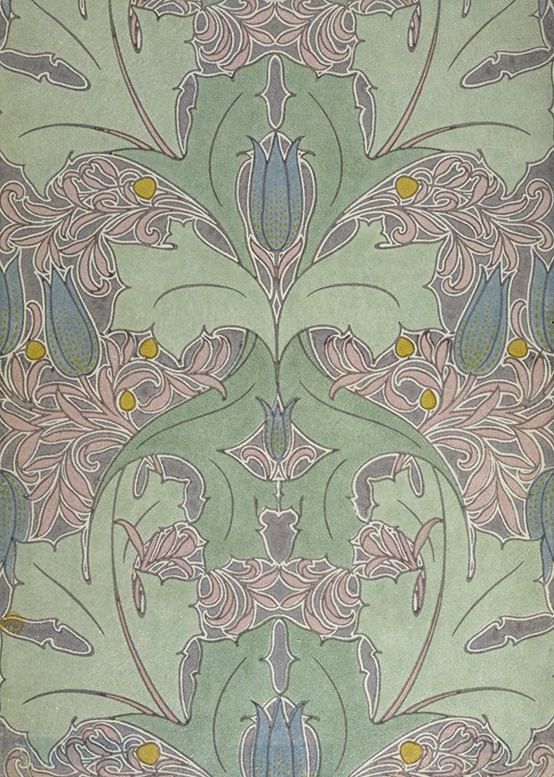 Wallpaper C F A Voysey England About 1899 Museum No CIRC263