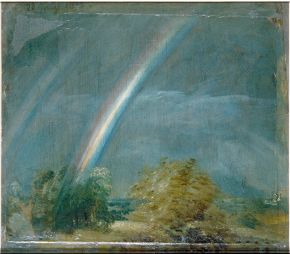 John Constable (1776-1837), Landscape and double rainbow, 1812, oil on paper laid on canvas. Museum no. 328-1888, © Victoria and Albert Museum, London
