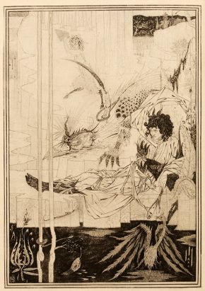 Aubrey Beardsley (1872-1898), How King Arthur saw the Questing Beast, 1892, pen, ink and wash on paper. Museum no. E.289-1972, © Victoria and Albert Museum, London