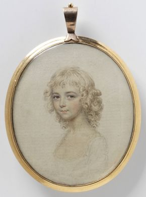 John Smart, portrait of an unknown girl, about 1800. Museum no. P.31-1984, © Victoria and Albert Museum, London