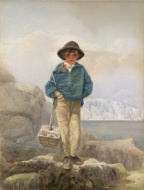 'Young England : A Fisherboy', by Alfred Downing Fripp (1822-95), 19th century, watercolour. Museum no. 97-1891, © Victoria and Albert Museum, London