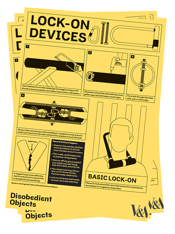 How to Guide: Lock-on Devices. llustration by Marwan Kaabour, Barnbrook