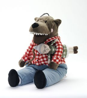 Soft toy wolf Lufsig, designed for and manufactured by Ikea, 2013. Photo © Victoria and Albert Museum, London