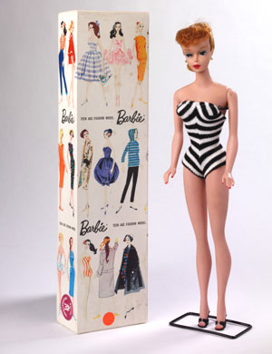 Barbie doll, Mattel Inc, USA and Japan, 1960 copyright Victoria and Albert Museum