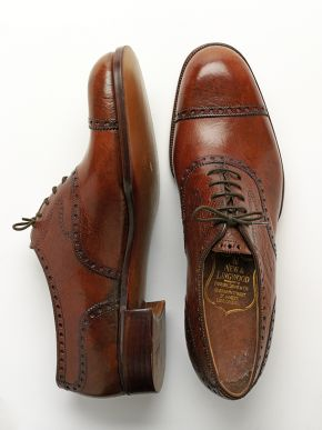Bespoke brogued Oxfords