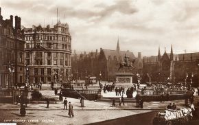 City Square Leeds, photograph, unknown photographer, Leeds, 1905. © Leeds Library & Information Services