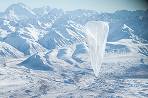 Google loon, a pilot project creating internet connectivity, New Zealand