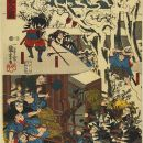 The night attack of the 47 Rōnin on the house of Moronao