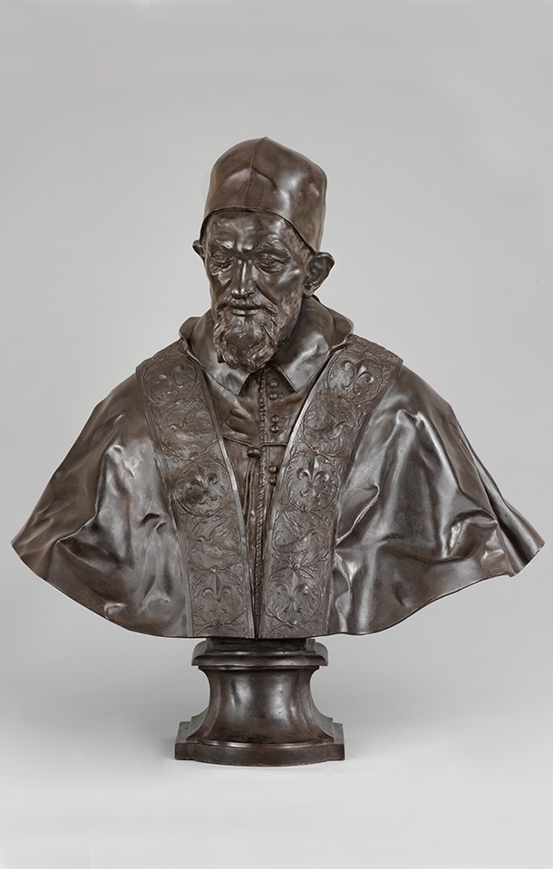 Bust of Pope Innocent X, by Domenico Guidi, about  1690, Italy (Rome), bronze. Museum no. 1088-1853, © Victoria and Albert  Museum, London