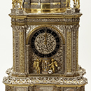 Clock, case by Hans Breghtel, movement by Adriaen van den Bergh, 1665-70, Dutch Republic (now the Netherlands), silver. Museum no. 92-1870, © Victoria and Albert Museum, London