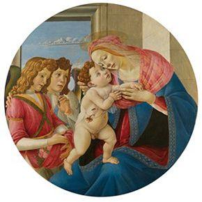 The Virgin and Child with Two Angels, c.1490 by Sandro Botticelli © Gemäldegalerie der Bildenden Künste Vienna