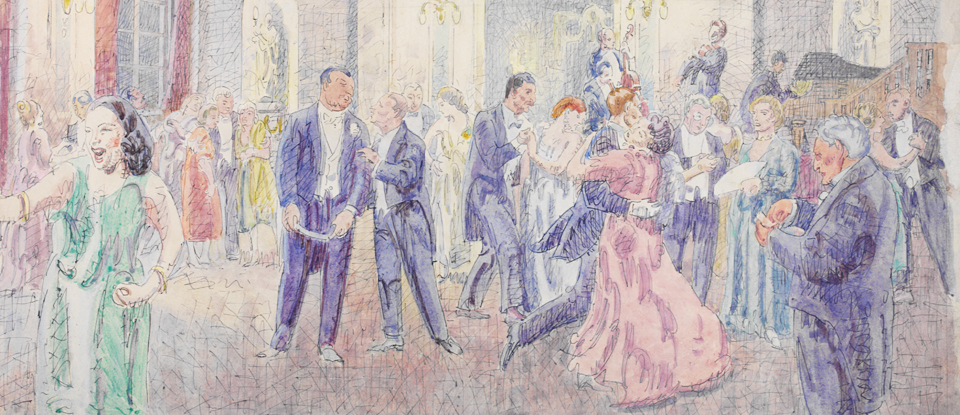 Ballroom at the Shire Hall, Chelmsford, Walter Bayes, Museum no. E.1363-1949 Given by the Pilgrim Trust