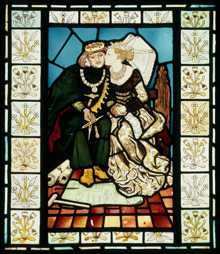 Panel King Renes Honeymoon Ford Madox Brown About 1863 Museum No CIRC516 1953 Gothic Revival