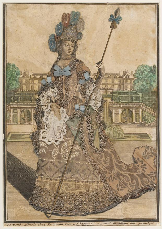 an adorned print print culture female leisure and the  figure 4 engraving unknown w spear antoine trouvain late 17th century museum no 1196 1875