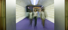 Re-opening of the Exhibition Road tunnel, 2004