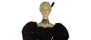 Interactive: Silk Velvet Evening Gown, by Stern Bros, about 1894