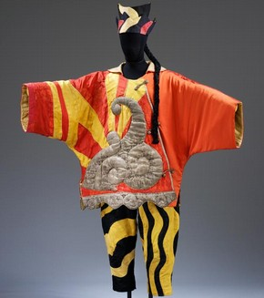 Costume for the Chinese Conjuror from Parade, designed by Pablo Picasso, 1917. Museum no. S.84&amp;A-1985.  Victoria & Albert Museum, London