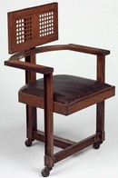 Office chair, designed by Frank Lloyd Wright, 1904. Museum no. W.43-1981