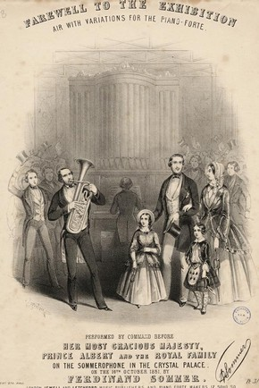 Jewell and Letchford (publishers), 'Farewell to the Exhibition', Printed music sheet cover, 1851. TM Collection