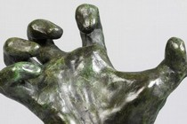 Model – Study of a Hand, by Auguste Rodin, possibly 1884–5, cast by George Rudier, 1952–3. Museum no. A.22-1971, room 111