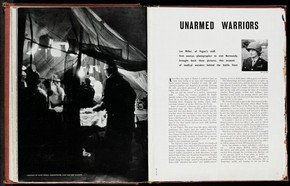 Magazine page featuring photographs by Lee Miller, 20th century. NAL. PP.1.A, © Victoria and Albert Museum, London