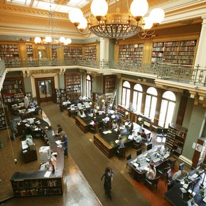 Reading Room of the National Art Library.