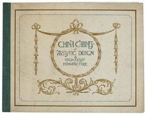 'China Cabinets of Artistic Design & High Class Manufacture', trade catalogue of Shapland & Petter, Barnstaple, Devon, UK, early 1900s. Pressmark NAL TC.L.0024