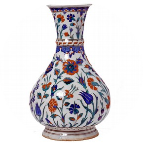 Vase, Iznik, Turkey, about 1575. Museum no. 232-1876