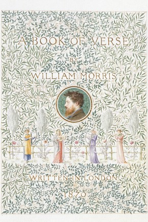 William Morris, 'A Book of Verse', 1870. Museum no. MSL.1953:131
