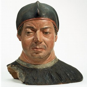 Bust of Cardinal Giovanni de' Medici (later Leo X), attributed to Antonio de'Benintendi, about 1512. Museum No. A.29-1982