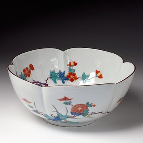 Bowl, Meissen porcelain factory, 1729-1731. Museum no. 7327-1860. Given by Queen Victoria.
