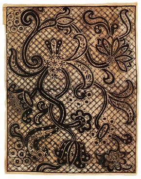 Sheet of wallpaper, late 17th century. Museum no. E.1003-1976