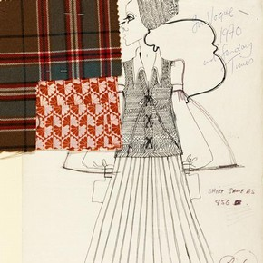 1) Bill Gibb (1943-88), fashion design, London, 1970. Museum no. E.123-1978