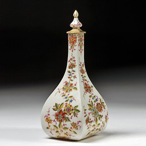 Bottle and stopper, Meissen, Germany, about 1720. Museum no. c.22-1956. J. Tulk Bequest 