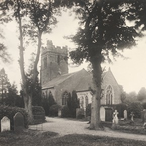 Exterior view of St Peter Dunchurch, Warwickshire, England, UK, photograph by Sir Benjamin Stone, 1899. Museum no. E5491-2000. © Victoria & Albert Museum, London