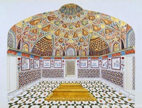 Topographical drawing of the mausoleum of Itimd-ud-Daul, Agra, India, about 1830. RIBA No. SB78/7(3)