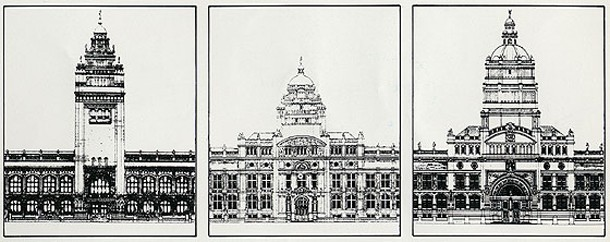 Aston Webb's changing designs for the southern façade of the V&A.