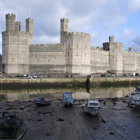 Caernarfon Castle, Wales, begun 1283.