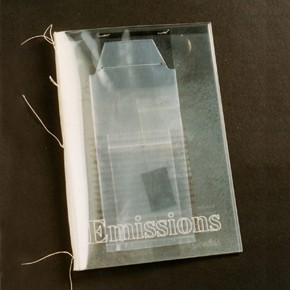 &#39;Emissions&#39;, artists&#39; book by Katharine Meynell and Susan Johanknecht, Gefn Press, London, UK, 1992. NAL pressmark: X930145