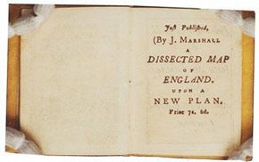 Advertisment for 'A Dissected Map of England' in Book 4 of 'The Infant's Library'