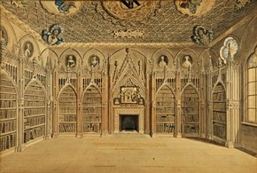 'The Library at Strawberry Hill', about 1781, by Edward Edwards (1738–1806). © The Lewis Walpole Library, Yale University.