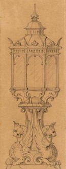 Figure 5 - Design for garden furniture for Somerleyton in Sketches and Drawings by John Thomas, Volume 2 (RIBA, 58)