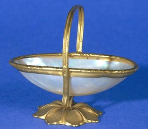 Figure 3 - Miniature basket, shell and ormolu, 1875. Museum no. AP.110-1875