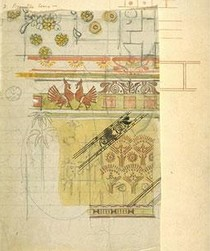 Design for wall decoration, E.W. Godwin. Museum no. E.285-1963