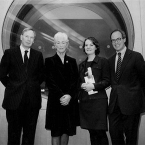 From left to right: HRH the Duke of Gloucester, Mrs Mary Moore, Ms Laura Davies , Mr Loyd Grossman.