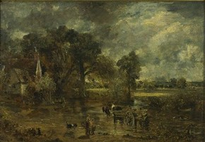 John Constable, Study for &#39;The Haywain&#39;, about 1821. Museum no. 987-1888